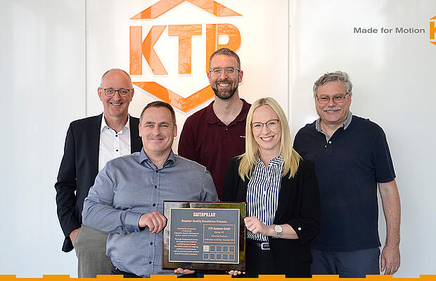 KTR receives award from Caterpillar by KTR Systems GmbH