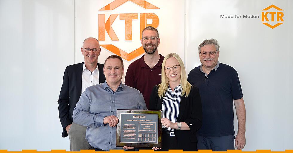 KTR erhaelt Auszeichnung von Caterpillar von KTR Systems GmbH