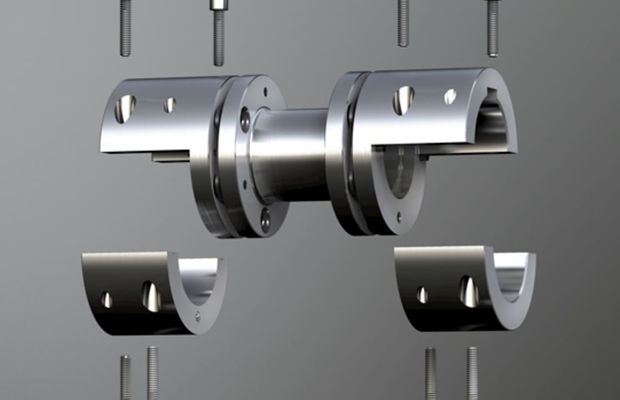 Steel lamina couplings RIGIFLEX-N-A-H open view by KTR Systems GmbH