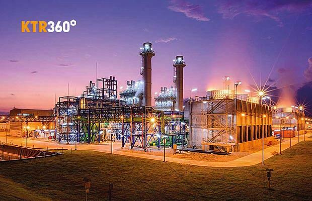 On-site energy and heat generation plant