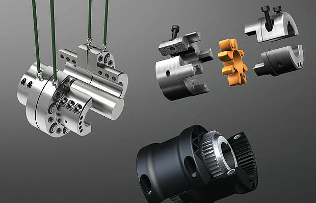 Range of split-hub couplings by KTR
