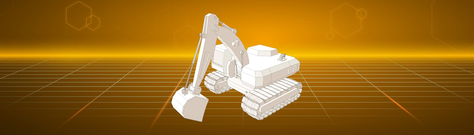 Animation construction machinery by KTR Systems GmbH