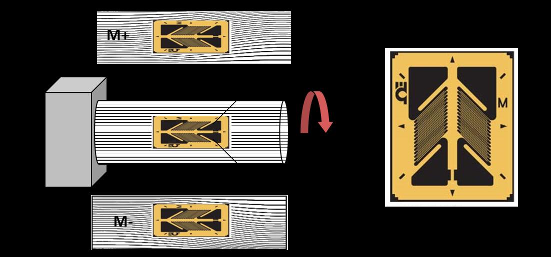 Torsionswelle mit Dehnungsmessstreifen (DMS)