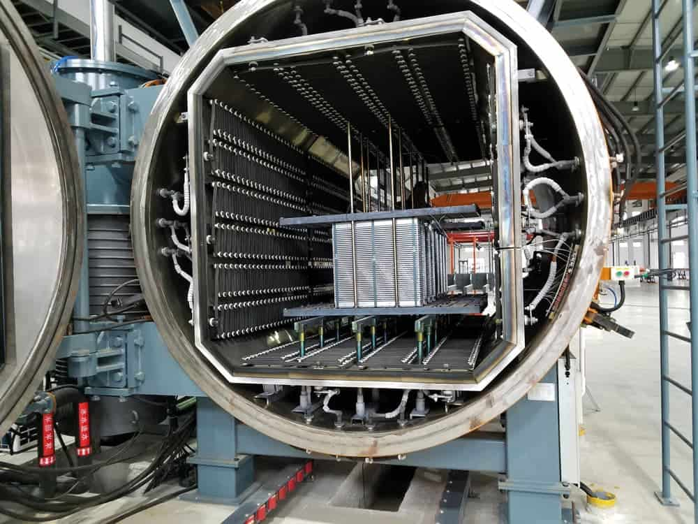 KTR cooler production plant - charge carrier for the cores