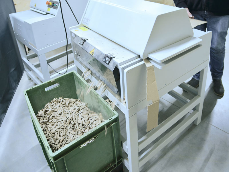 KTR Recycling project cardboard chips