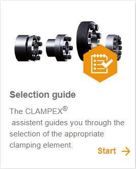 CLAMPEX Spannsätze - Online Tool - KTR Systems GmbH